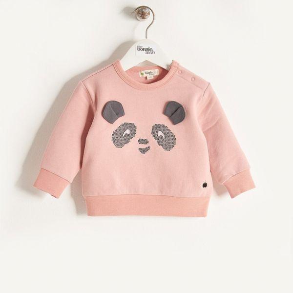 Bonniemob - Pullover Panda rosa