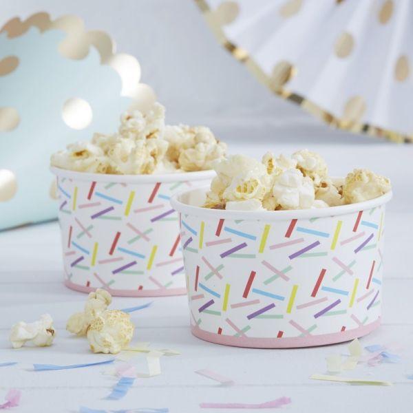 Ginger Ray - Partyschalen / Eiscremeschale Sprinkles
