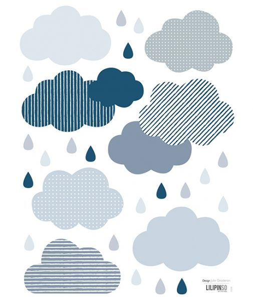 Lilipinso - Wandsticker Clouds and Drops