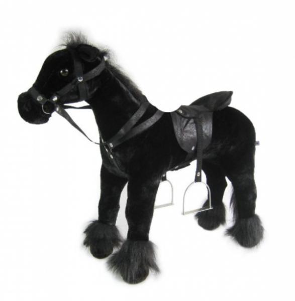 Heunec - Stehpferd, schwarz, 80 cm