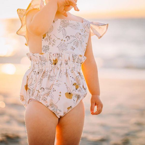 India + Grace - Ruffle Strampler Summer Floral