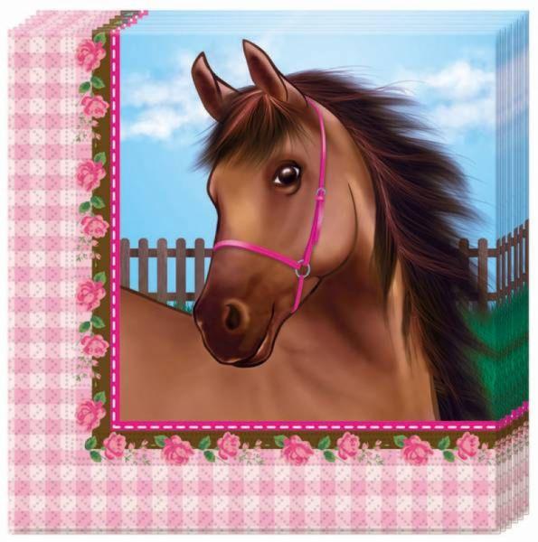 Servietten Pferde