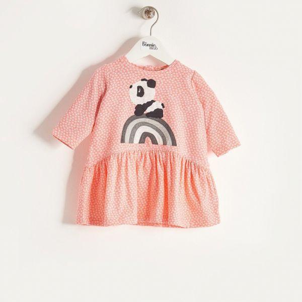 Bonniemob - Kleid Rainbow Panda sorbet
