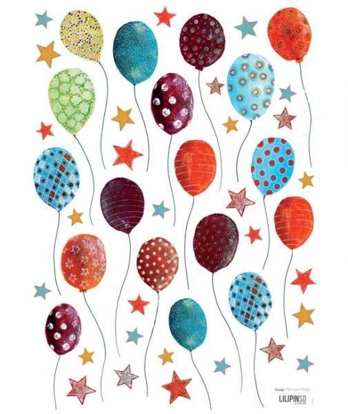 Lilipinso - Wandsticker bunte Ballone und Sternchen