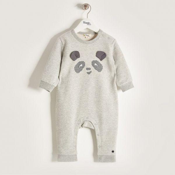 Bonniemob - Strampler Panda grau