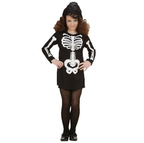 Kinderkostüm Skelett Girl - Grösse 158