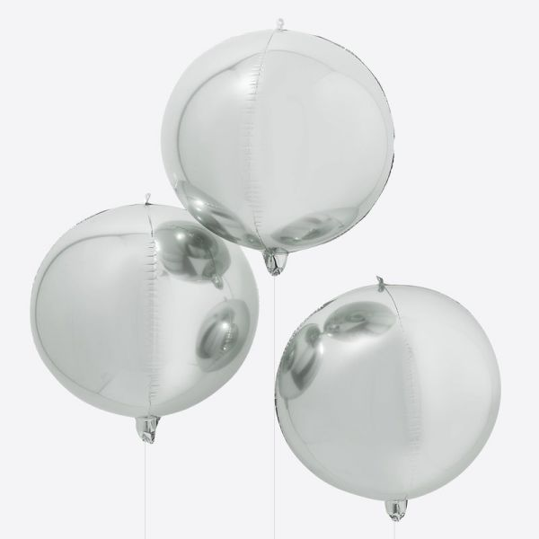 Ginger Ray - Silber Orb Balloons
