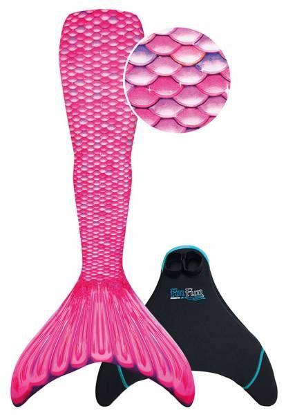 """Fin Fun """"Mermaidens"""" Meerjungfrau Flosse """"Malibu Pink"""" Erwachsene M"""