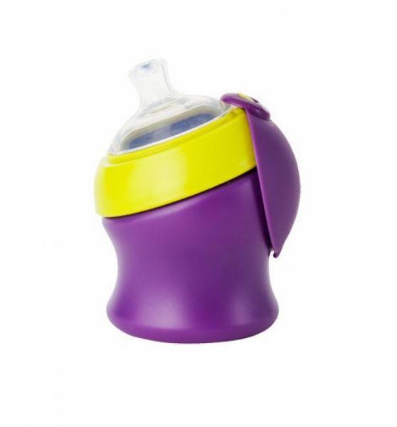Boon - Swig Trinklernflasche lila/kiwi klein