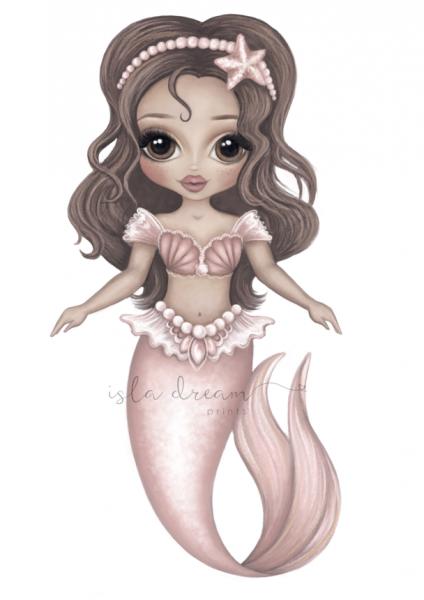 Isla Dream Prints - Poster Arista die Meerjungfrau