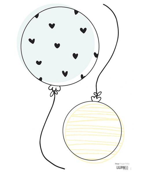 Lilipinso - Wandsticker Ballone