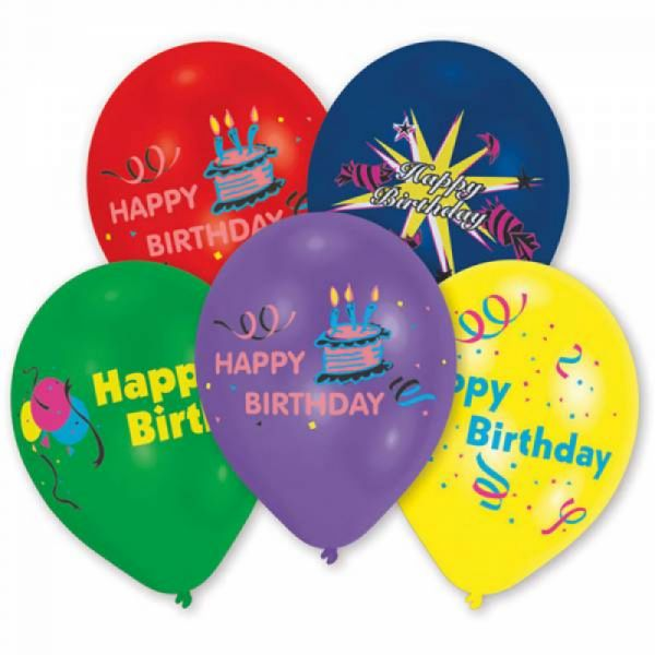 "10 Ballone ""Happy Birthday"""