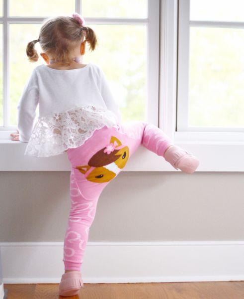 Doodle Pants - Pink Horse Leggings