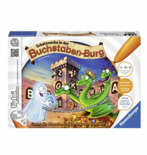 Ravensburger tiptoi® - Spiel Schatzsuche in der Buchstabenburg (ohne Stift)