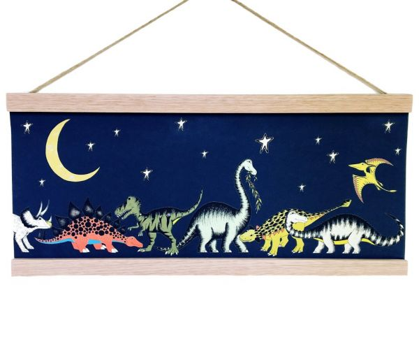 Dino Raw - Poster Stars & Moon