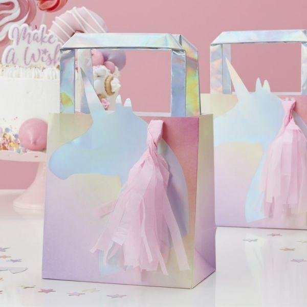 Ginger Ray - Geschenktüten Unicorn Iridescent