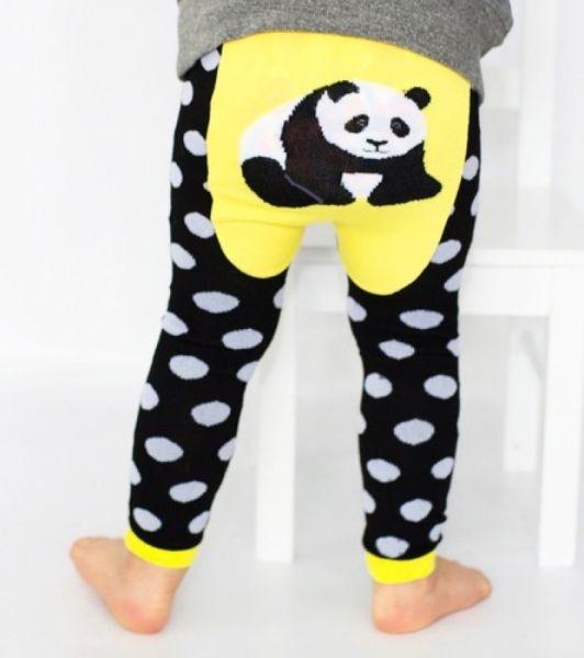 Doodle Pants - Panda Dot Leggings