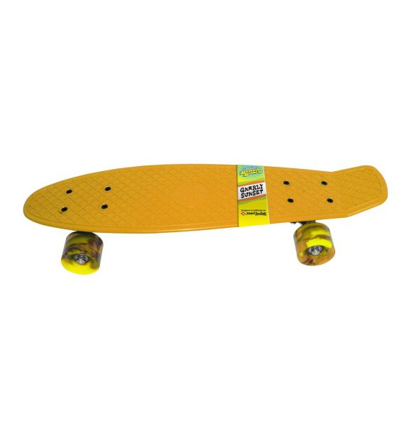 Streetsurfing - Skateboard Beach Board Gnarly Sunset orange