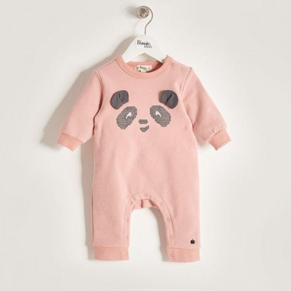 Bonniemob - Strampler Panda rosa
