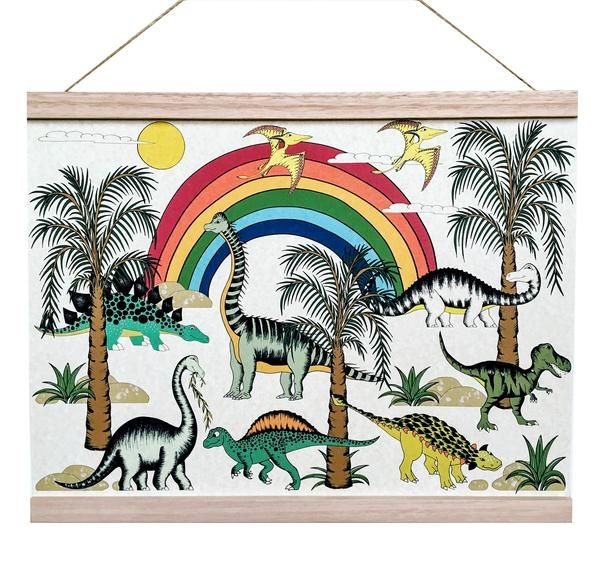 Dino Raw - Poster In the Jungle Rainbow Dinosaur