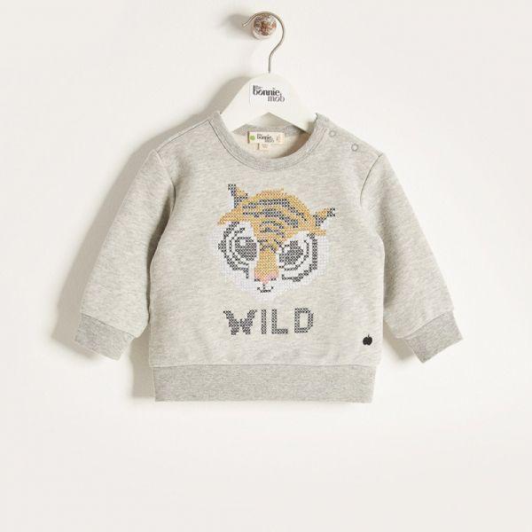 Bonniemob - Pullover Tiger grau