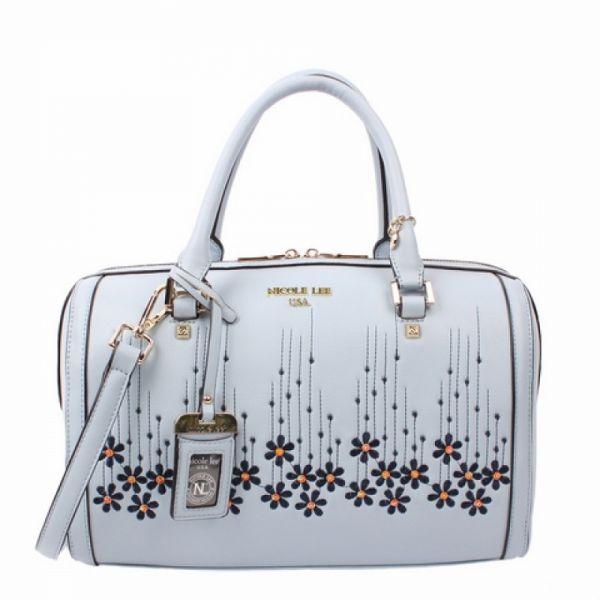 "Nicole Lee - Handtasche ""Rosalie Floral"" blau Boston Bag"