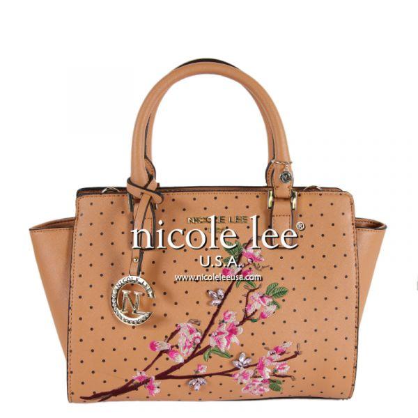 """Nicole Lee - Handtasche """"Kayley Floral"""" camel"""