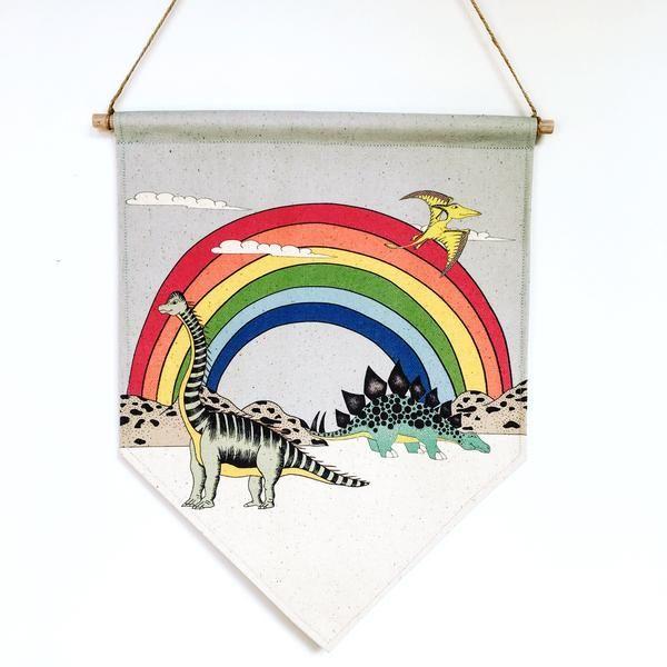 Dino Raw - Dino Banner Rainbow Dreaming